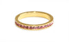 Pink stacking ring | Gold