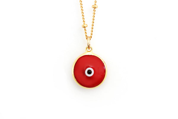 Red evil eye necklace