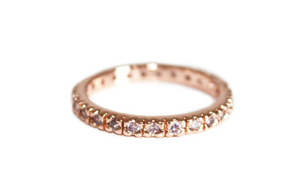 CZ eternity ring | Rose Gold