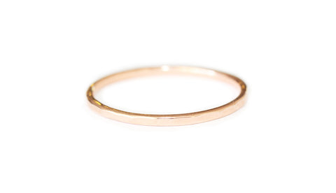 Rose gold hammered ring