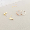 Bar earrings | rose gold