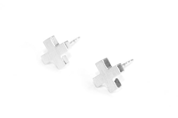 Cross earrings | silver
