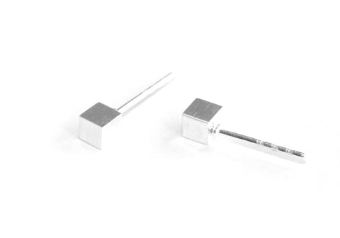 The Cube studs | silver