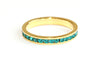 Turquoise stacking ring | Gold