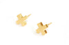 Cross earrings | yellow gold