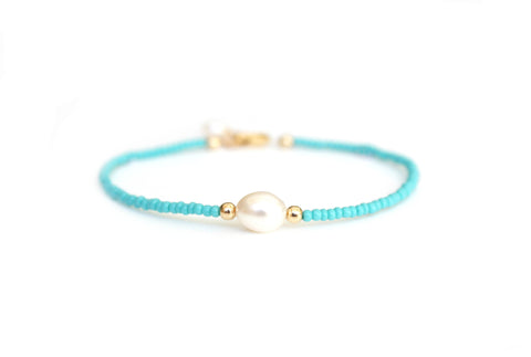 Pearl friendship bracelet | Gold