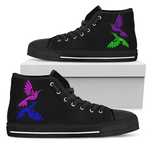Hummingbird Women's High Top Canvas Shoes