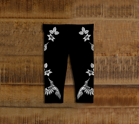 Hummingbird Baby Leggings Black - Northern Dreams Clothing by Chelleen