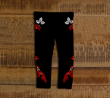 Hummingbird Baby Leggings Red - Northern Dreams Clothing by Chelleen