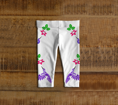 Hummingbird Baby Leggings White - Northern Dreams Clothing by Chelleen