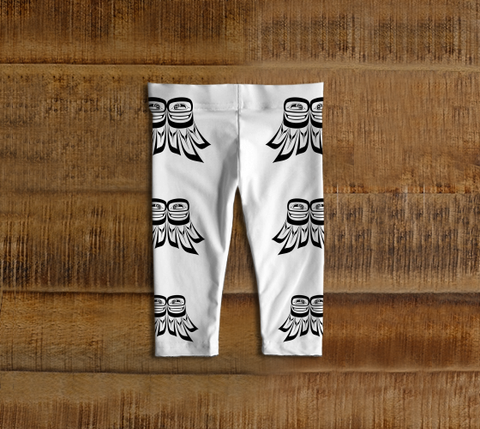Raven Wing Baby Leggings White - Northern Dreams Clothing by Chelleen