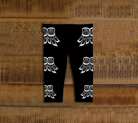 Raven Wing Baby Leggings Black - Northern Dreams Clothing by Chelleen