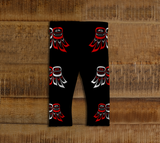 Raven Wing Baby Leggings Traditional Black - Northern Dreams Clothing by Chelleen