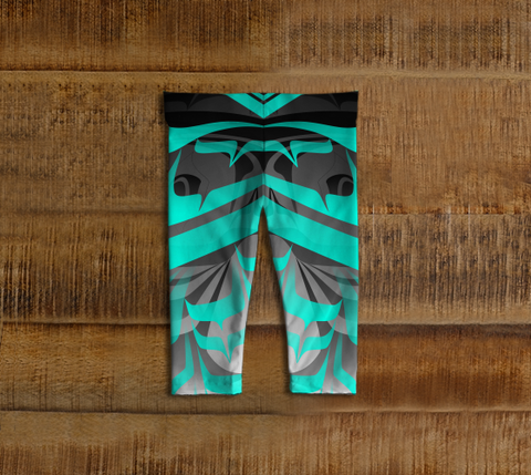 Eagle Baby Leggings Dark Aqua - Northern Dreams Clothing by Chelleen