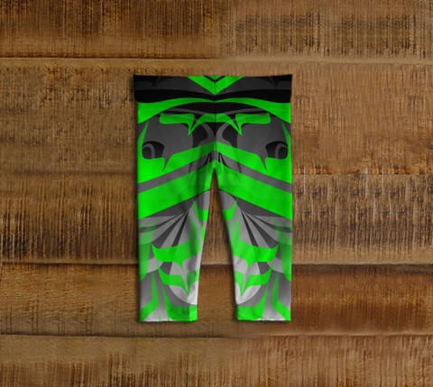 Eagle Baby Leggings Green - Northern Dreams Clothing by Chelleen