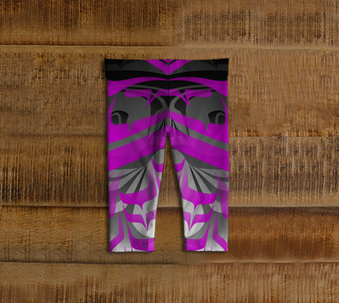 Eagle Baby Leggings Purple - Northern Dreams Clothing by Chelleen