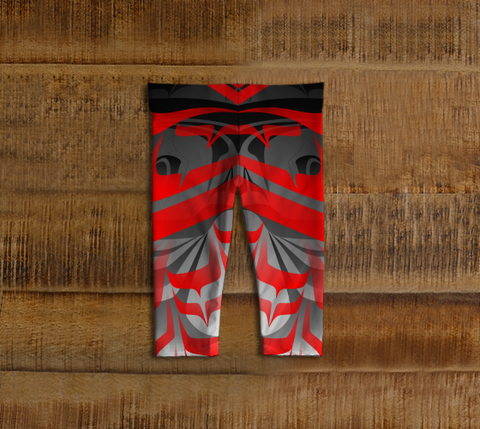Eagle Baby Leggings Red - Northern Dreams Clothing by Chelleen