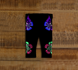 Butterfly Baby Leggings Artistic Black - Northern Dreams Clothing by Chelleen