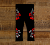 Butterfly Baby Leggings Traditional Black - Northern Dreams Clothing by Chelleen