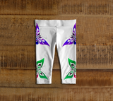 Butterfly Baby Leggings Artistic White - Northern Dreams Clothing by Chelleen