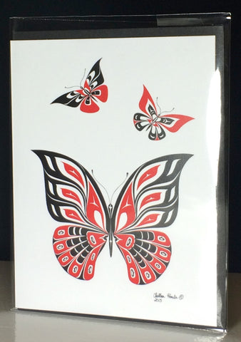 Butterfly Greeting Cards - Northern Dreams Clothing by Chelleen