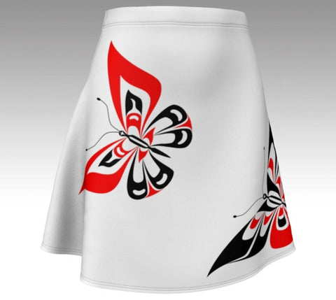 Butterfly Flare Skirt (Traditional White) - Northern Dreams Clothing by Chelleen