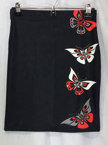 Butterfly Fitted Skirt Traditional Black - Ready to ship