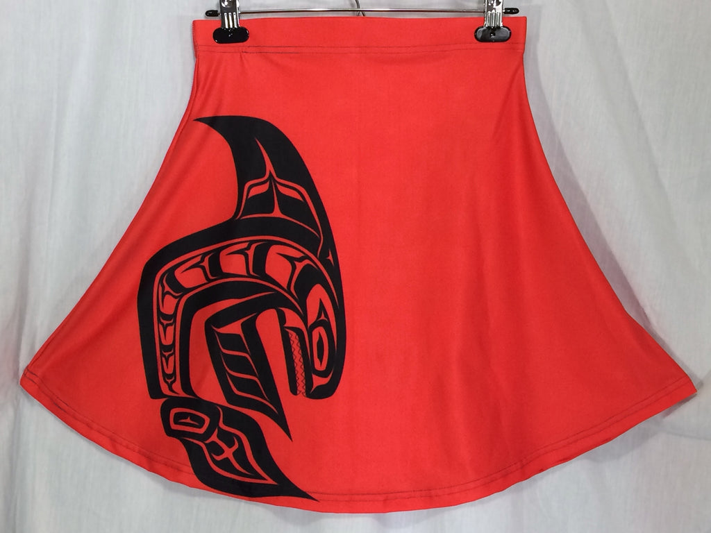 Killer Whale Red Flare Skirt - Ready to ship