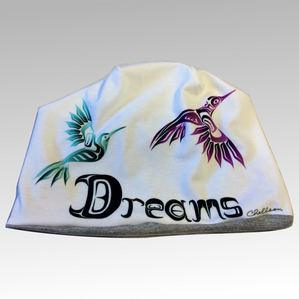 Northern Dreams Beanie White - Northern Dreams Clothing by Chelleen