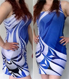 Raven Blue Fitted Dress - Ready to ship