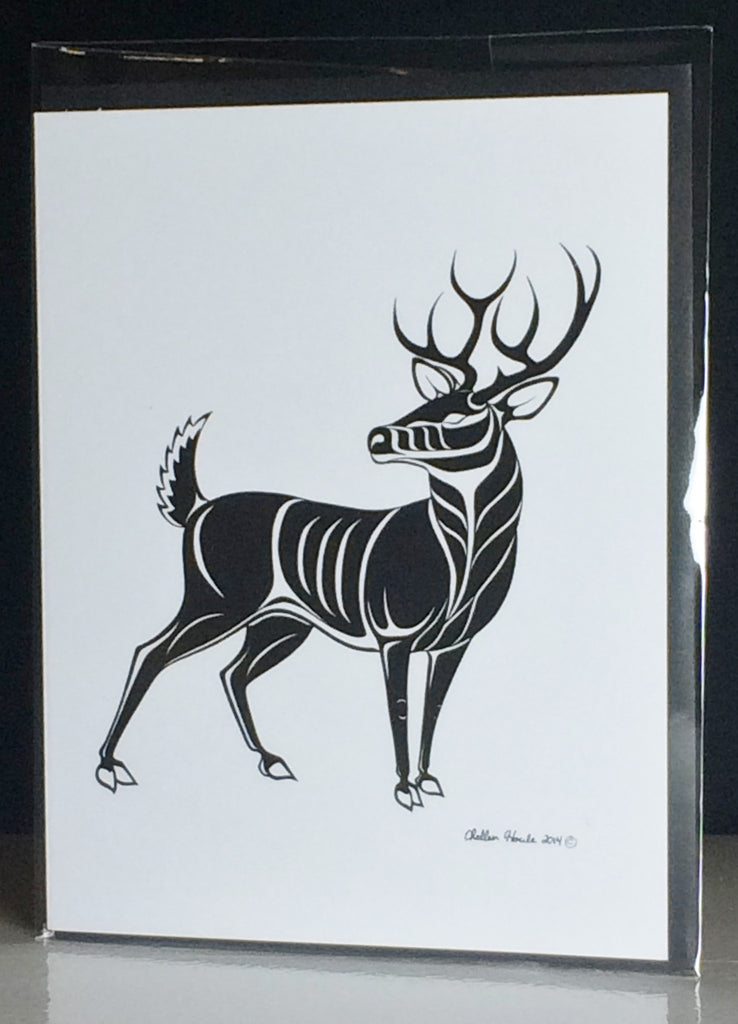 Stag Greeting Cards (blank interior) - Northern Dreams Clothing by Chelleen