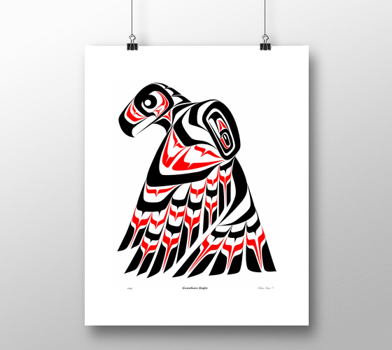 "Guardian Eagle Limited Edition Print (8"" x 10"") - Northern Dreams Clothing by Chelleen"