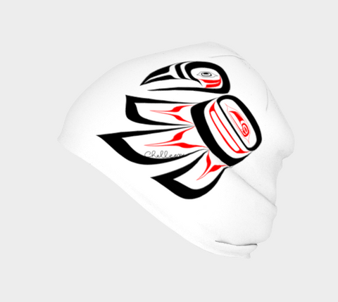 Raven Beanie Traditional White - Northern Dreams Clothing by Chelleen