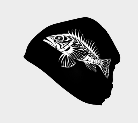 Rockfish Beanie Black - Northern Dreams Clothing by Chelleen