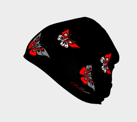 Butterfly Beanie Traditional Black - Northern Dreams Clothing by Chelleen