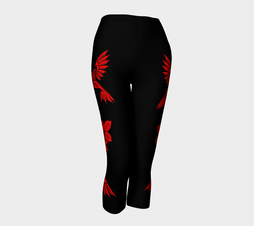 Capris Hummingbirds (Red) - Northern Dreams Clothing by Chelleen