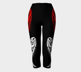 Halibut Black Capris (White Red) - Northern Dreams Clothing by Chelleen