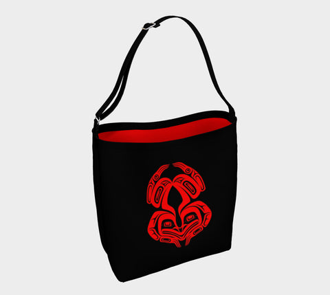Frog Tote Bag Black & Red