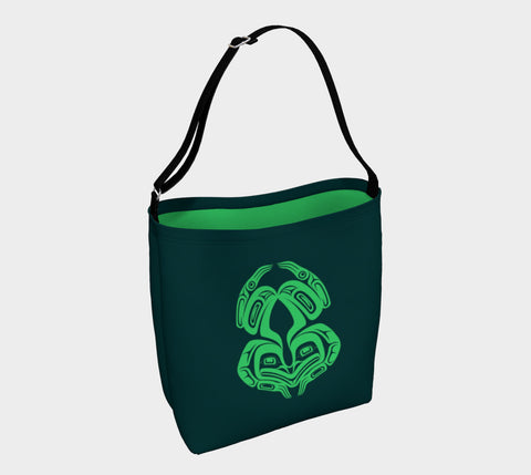 Frog Tote Bag Green