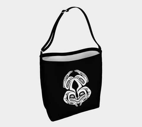 Frog Tote Bag Black