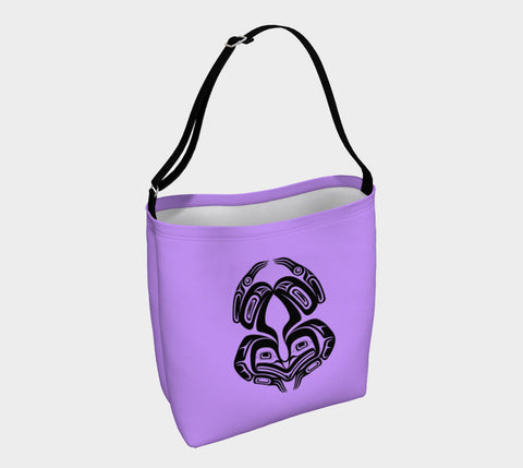 Frog Tote Bag Purple