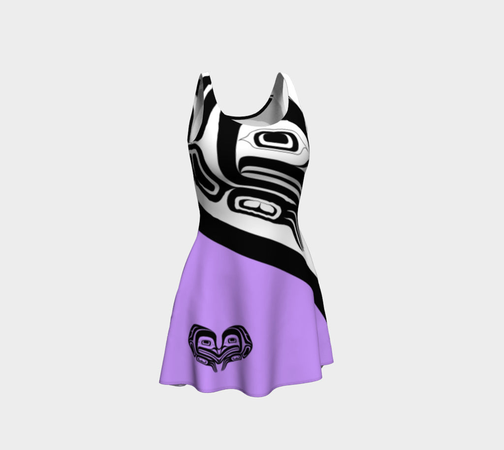 Frog Flare Dress Purple