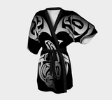 Orca Kimono Robe Black - Northern Dreams Clothing by Chelleen