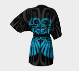 Raven Blue Kimono Robe (Dark) - Northern Dreams Clothing by Chelleen