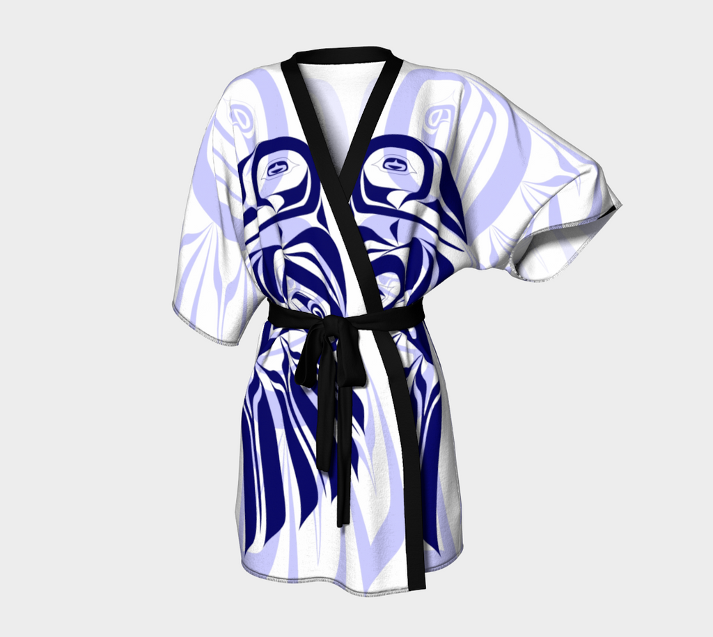 Raven Blue Kimono Robe (Light) - Northern Dreams Clothing by Chelleen