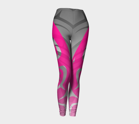 Killer PinkBlack Leggings - Northern Dreams Clothing by Chelleen