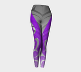 Killer PurpleBlack Leggings - Northern Dreams Clothing by Chelleen