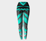 Eagle AquaBlack Leggings - Northern Dreams Clothing by Chelleen