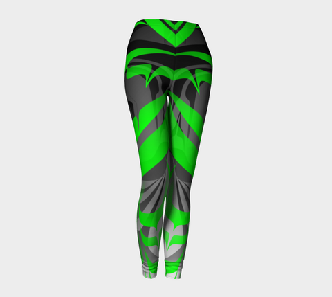 Eagle GreenBlack Leggings - Northern Dreams Clothing by Chelleen