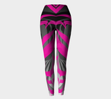 Eagle PinkBlack Leggings - Northern Dreams Clothing by Chelleen